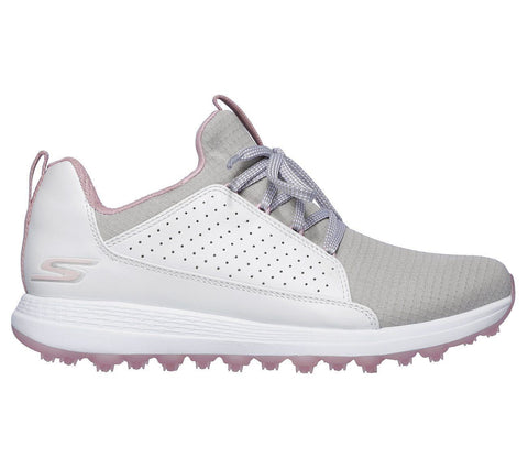 Skechers Ladies Ultra Flight - White/Grey/Pink