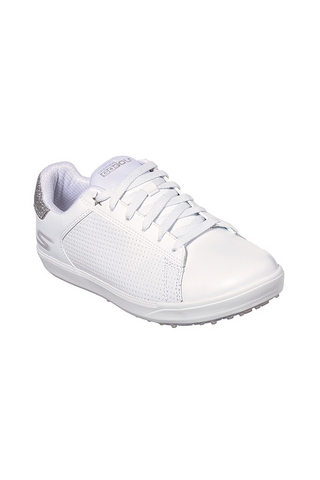 Skechers Ladies Drive Shimmer - White/Silver