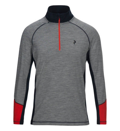 Peak Performance Magic 1/2 zip  - Grey - SS2018