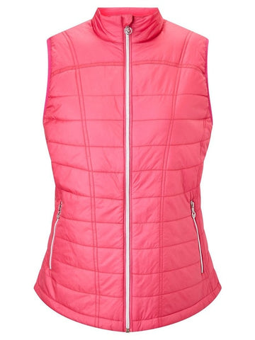 Callaway Ladies Quilted Gilet - Pink - SS2018