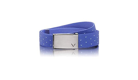 Callaway Ladies V Print Web Belt - Amparo Blue - 2019