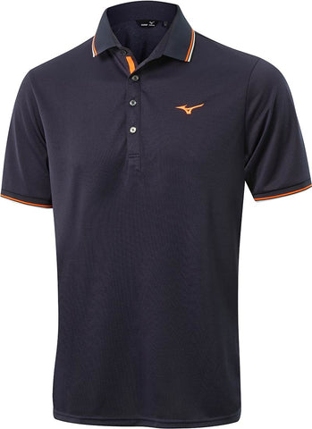 Mizuno Thermal Polo - Navy/Orange/White -AW2017