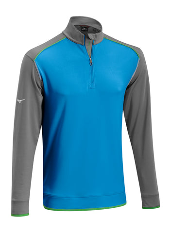 Mizuno Warmalite 1/4 Zip Windtop - Methyl Blue/Cathle Rock - SS2016
