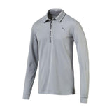 Puma Tailored Long Sleeve Polo - Quarry