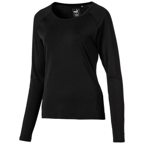Ladies Puma Long Sleeve Crew Polo - Black