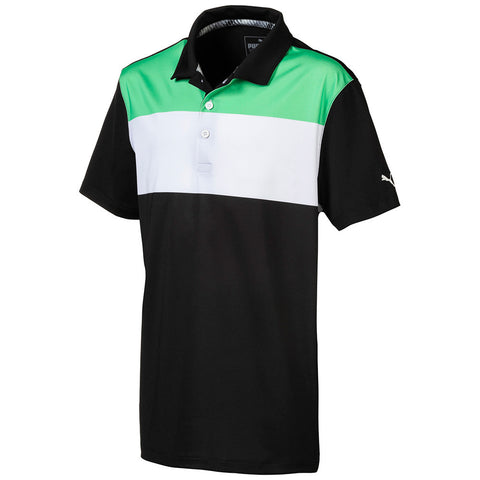 Puma Junior Boys Nineties Polo - Black/Green/White
