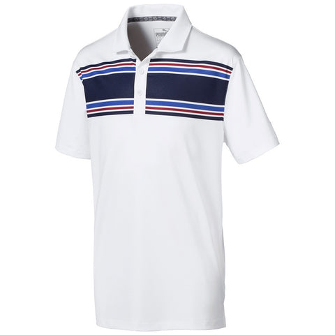Puma Junior Boys Montauk Polo - White/Blue