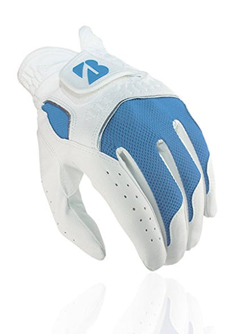 Bridgestone Blended Ladies Leather Golf Glove - White/Blue - SS2015