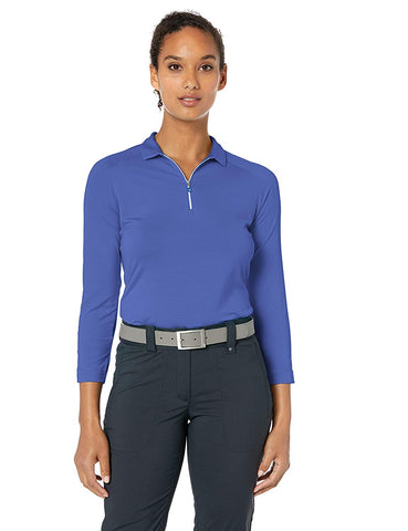 Callaway Ladies 3/4 Sleeve Jersey Top - Amparo Blue
