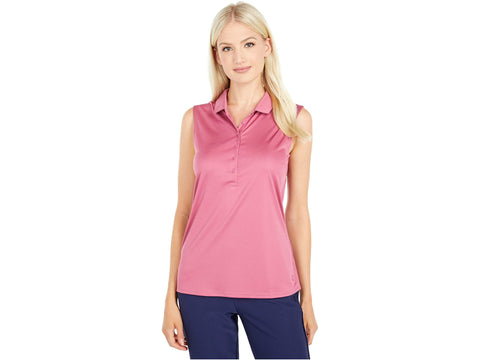 Ladies Puma Rotation Sleeveless Polo - Rose Wine