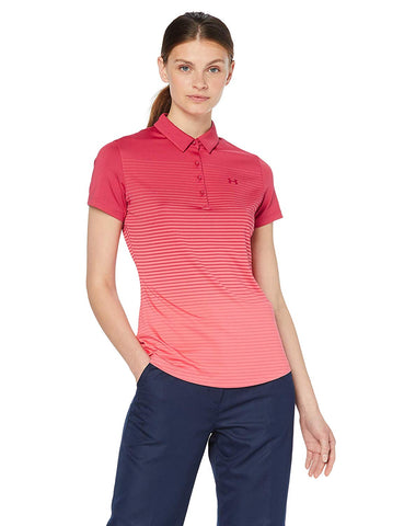 Under Armour Ladies Zinger SS Novelty Polo -Pink