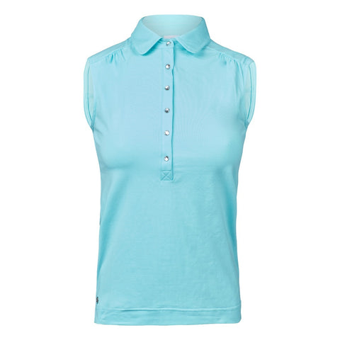 Daily Sports Majken Sleeveless Polo - Lagoon