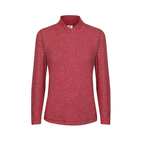 Daily Sports Agnes L/S Mock Neck - Claret - AW2018