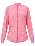 Callaway Ladies Space Dye Heathered Jacket - Magenta Heather - AW2018