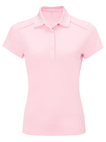 Callaway Ladies Micro Hex Polo - Pink Lady - AW2018