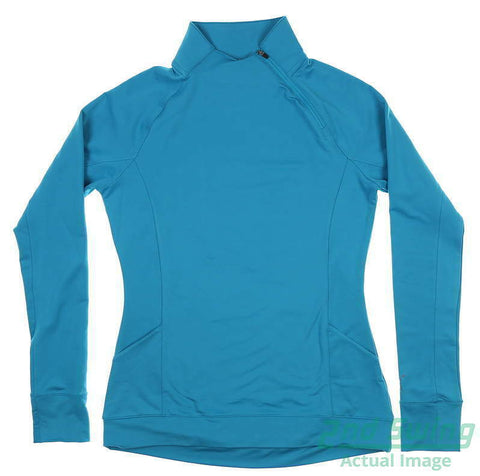 Puma Ladies Brisk 1/4 Zip  - Caribbean Sea