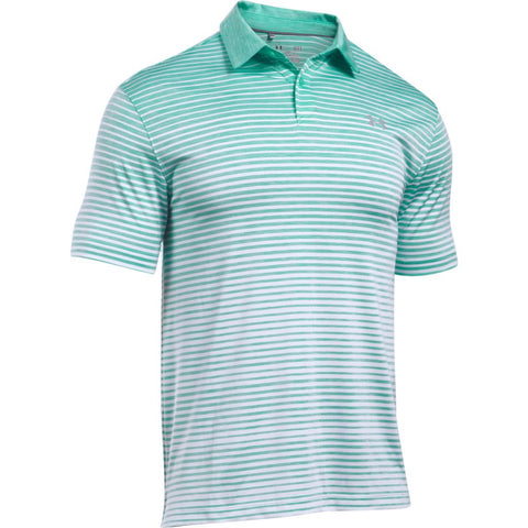 Under Armour Trajectory Stripe Polo - Mint - SS2017