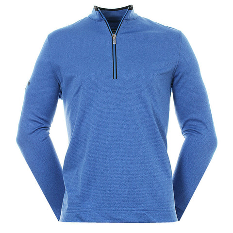Mens Callaway  1/4 Zip Sweater - Magnetic Blue