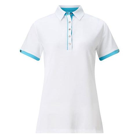 Callaway Contrast Trim Polo - Bright White - SS2017