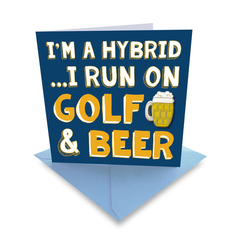 Surprizeshop Ball Marker Greeting Card - Golf & Beer