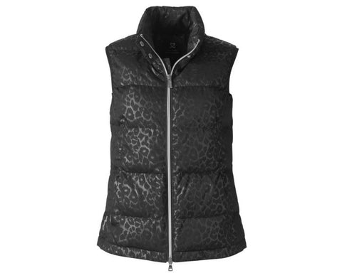 Daily Sports Leopard Print Heat Padded Vest - Black