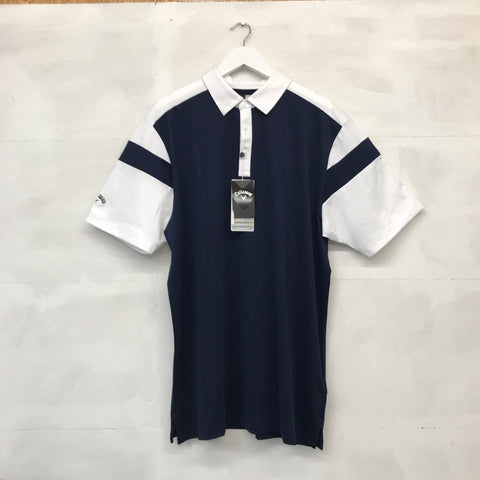 Callaway Shoulder Block Polo Shirt - Navy/White - SS2016