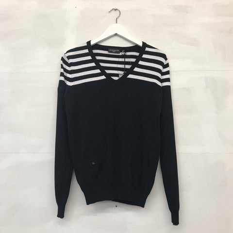 Glenmuir Olivia Supersoft Sweater - Black/White - Pre2014