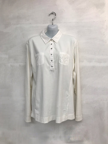 Daily Sports Long Sleeve Polo - Cream - AW2015