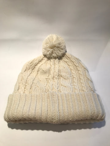 Glenmuir Ladies Cable Knit Bobble Hat - Ivory - AW2015