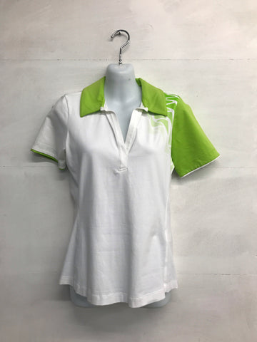 Galvin Green Marilyn Polo Shirt - White/Apple - Pre2014