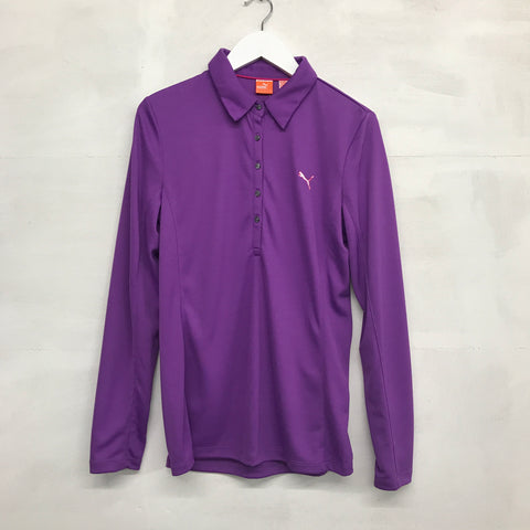 Puma Long Sleeve Dry Cell Polo - Bright Violet - Pre2014