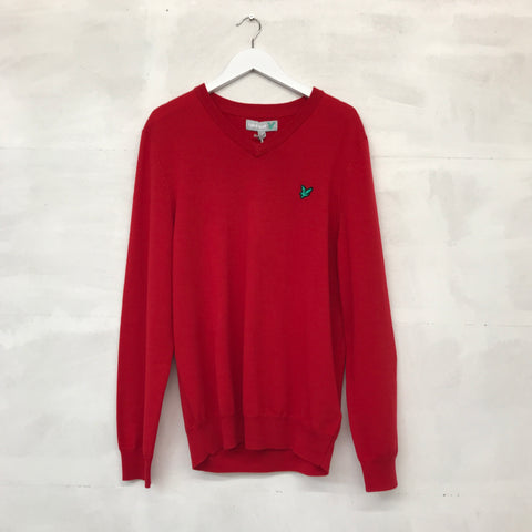 Lyle & Scott Merino Sweater - Sports Red - Pre2014