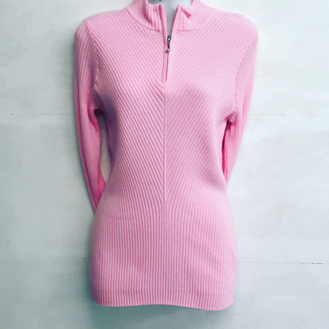 Glenmuir Paige zipped neck sweater - Candy - SS2014