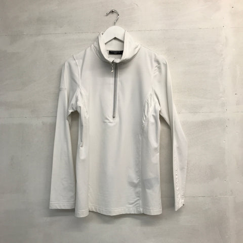 Glenmuir Ruched Quarter Zip - White - AW2015