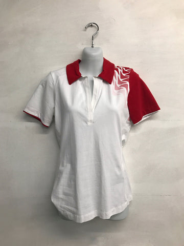 Galvin Green Marilyn Polo Shirt - White/Red - Pre2014