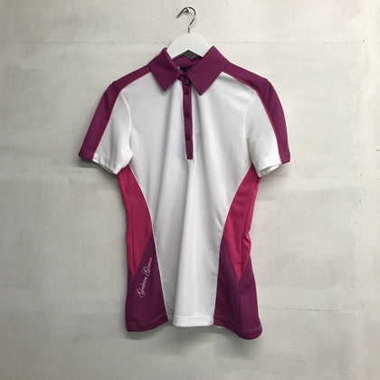 Galvin Green Madeline Polo - White/Deep Orchid - Pre2014