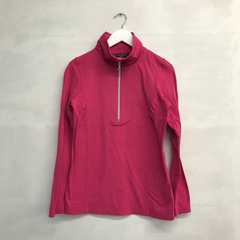 Glenmuir Ruched Quarter Zip - Dark Pink - AW2015