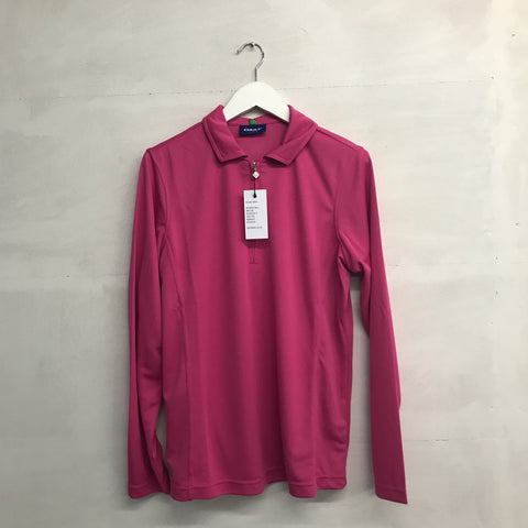 Daily Sports Macy Long Sleeve Polo - Pink - AW2016