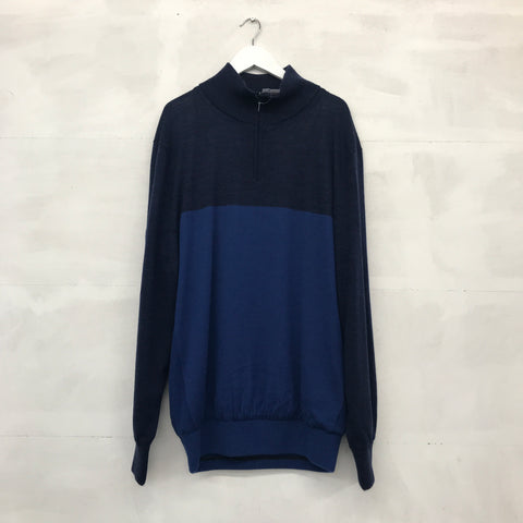 Mizuno Hayate 1/4 Zip Sweater - Dress Blue - AW2015