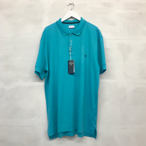 Callaway X Collection Stretch Solid Polo - Scuba Blue - SS2016