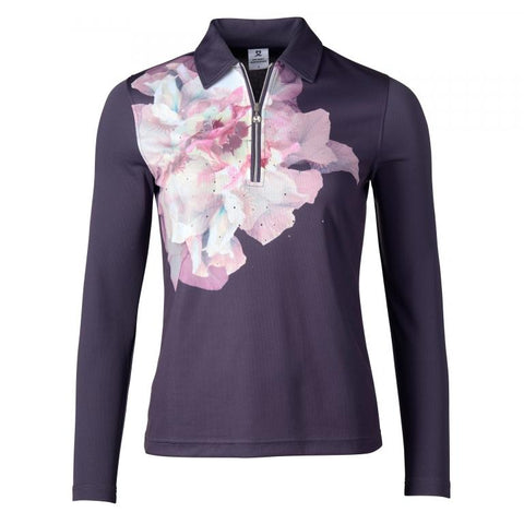 Daily Sports Grace Long Sleeve Polo - Aubergine