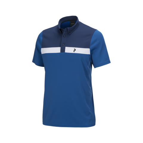 Peak Performance Panmore Striped Polo - True Blue - SS2018