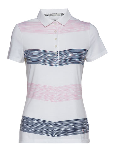 Ladies Puma Race Day Polo -Pale Pink