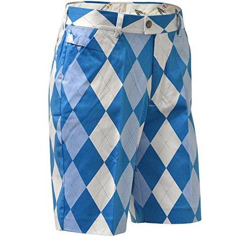 Ladies Royal & Awesome Golf Shorts - Blue