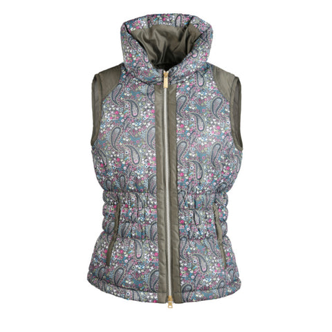 Daily Sports Jazmine Full Zip Gilet - Khaki/floral - AW2017