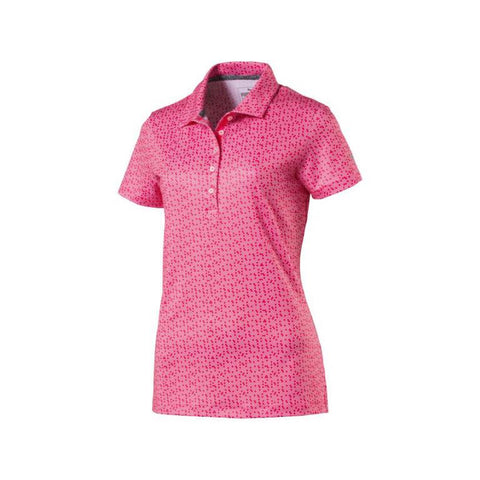 Puma Ladies Polka Dot Polo - Bright Plasma - SS2018