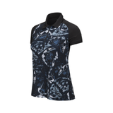 Peak Performance Ladies Printed 1/2 zip Polo SS - Black - SS2018
