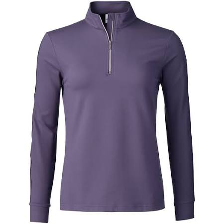 Daily Sports Anna Long Sleeve Half Zip - Aubergine