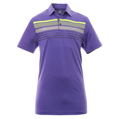 Under Armour Chest Stripe Polo - Purple - SS2015