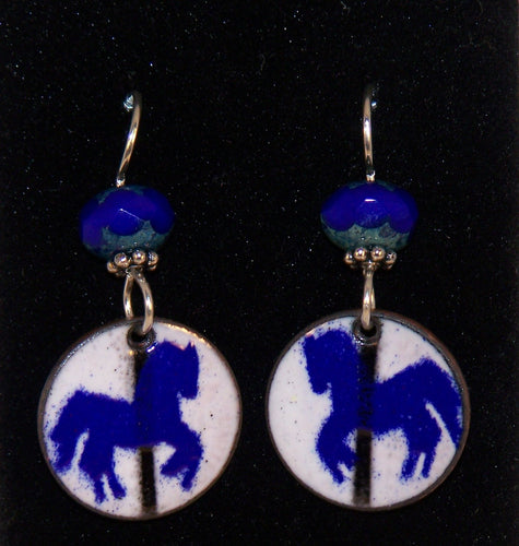 Carrousel Horse Penny Earrings